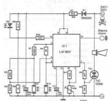 LM1801 smoke detector circuit design electronic project schematic