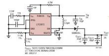 5 to 12V DC converter circuit using LTC3872