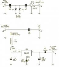 MAR-6 VHF-UHF wide band amplifier circuit