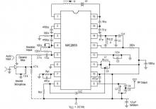 MC2833 FM transmitter circuit