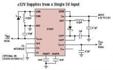 5 to 12V dc converter circuit diagram using LT3582-12