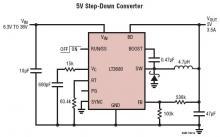 5v dc power switching converter circuit using LT3680