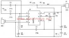 TBA820M high gain audio amplifier circuit design electronic project