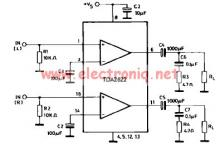 TDA2822 power amplifier electronic project circuit design