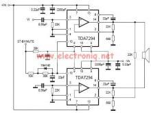 TDA7294 bridge power amplifier circuit diagram electronic project