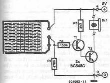Liquid detector circuit diagram