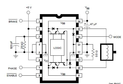 DC servo motor circuit design using A3952S motor driver