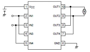 LB1948M motor control driver electronic circuit design project