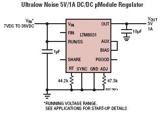 LTM8031 5v dc converter circuit
