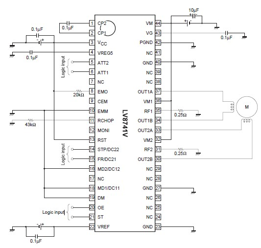 PWM current-control stepping motor driver using LV8741V