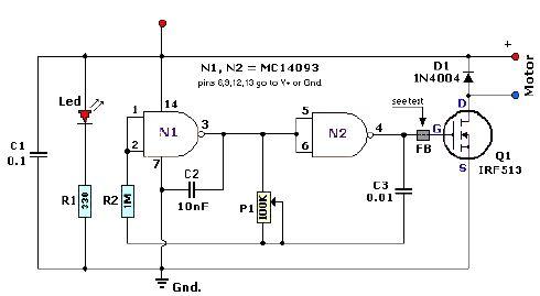 MC14093 pulse width modulation controller circuit design