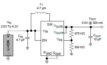 5v Battery step up circuit converter MCP1640