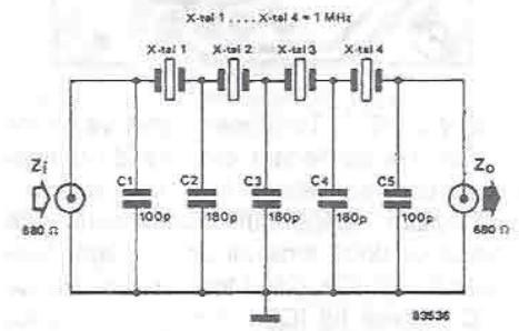 Filter carrier with narrow bandwidth circuit diagram