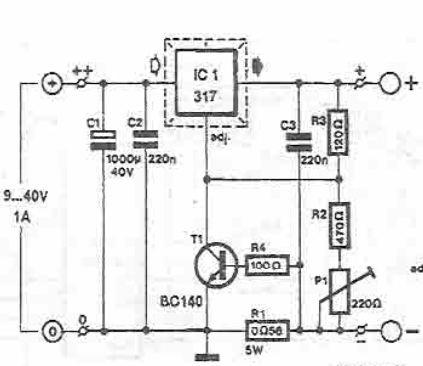 LM317 Lead acid batteries charger circuit design electronic project