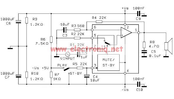 TDA2052 audio amplifier circuit design electronic project
