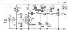 RF amplifier circuit diagram