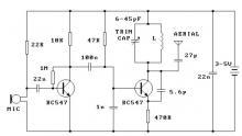 300m FM transmitter circuit design project