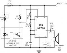 Smoke detector using 555 timer circuit