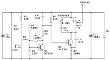9V fm transmitter circuit design using transistors