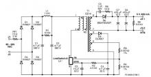 CV/CC charger circuit diagram designed using LinKSwitch