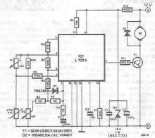Temperature regulator electronic project designed using L121