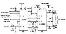 L6203 DC motor controller circuit electronic project