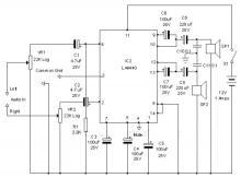 LA4440 audio amplifier circuit