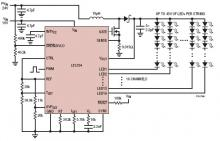 LT3754 16 channel LED driver circuit design schematic