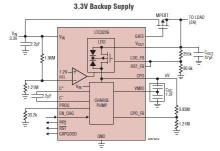 LTC3226 supercapacitor charger electronic circuit project