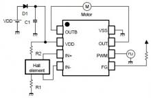 NJU7365 single phase dc brushless motor driver circuit design