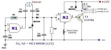 Fluid lever sensor circuit design using ac signal