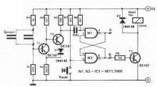 Humidity detector circuit electronic project schematic