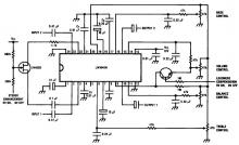 LM1040 tone control circuit design electronic project
