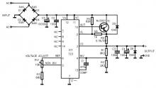LM723 variable power supply circuit design project