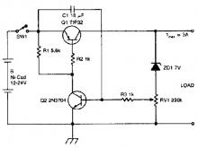 Ni-cd battery discharge limiter electronic project