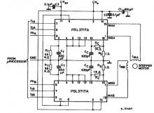 PBL3717A motor stepper driver circuit design electronic project