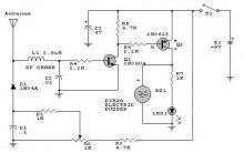 RFdetector circuit using 2N2222 transistors