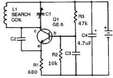 Radio metal detector circuit diagram