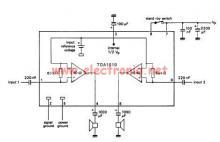 TDA1519 audio amplifier circuit diagram project