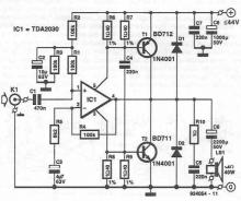 TDA2030 40W power amplifier circuit diagram