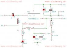 TDA2050 32 watt audio amplifier circuit