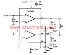 TDA2822 power amplifier bridge