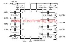 TDA7377 class AB car radio amplifier circuit design electronic project