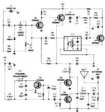 TV audio video transmitter circuit