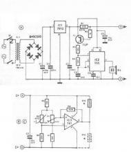 555 timer circuit temperature monitoring system