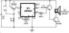 UM3561 alarm systems circuit