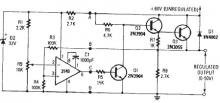 0-50volt variable regulator electronic project