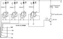 Water level indicator circuit using CMOS ICs